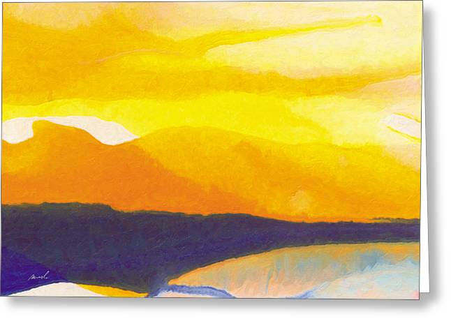 Greeting Card featuring the painting Sun Glazed by The Art of Marsha Charlebois