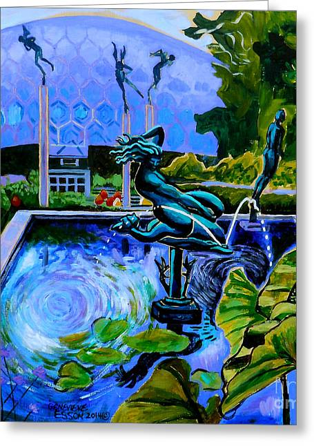 Sun Glitter Mermaid At Missouri Botanical Garden Greeting Card
