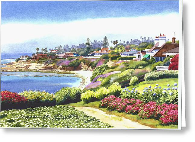 Sun Gold Point La Jolla Greeting Card