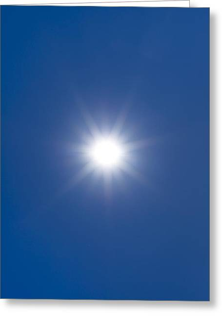 Sun In A Blue Sky Greeting Card by Science Photo Library