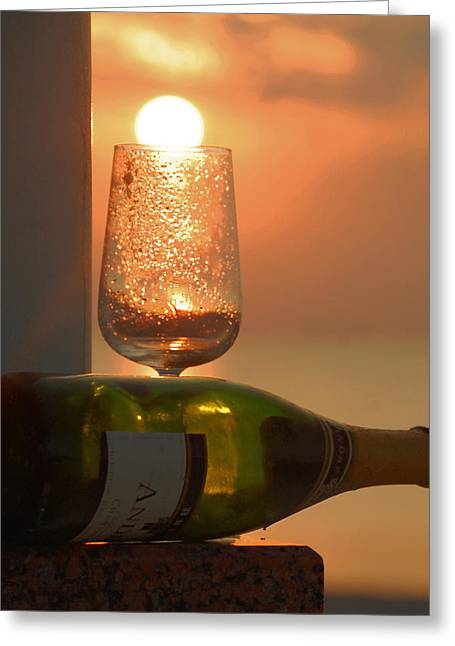 Greeting Card featuring the photograph Sun In Glass by Leticia Latocki