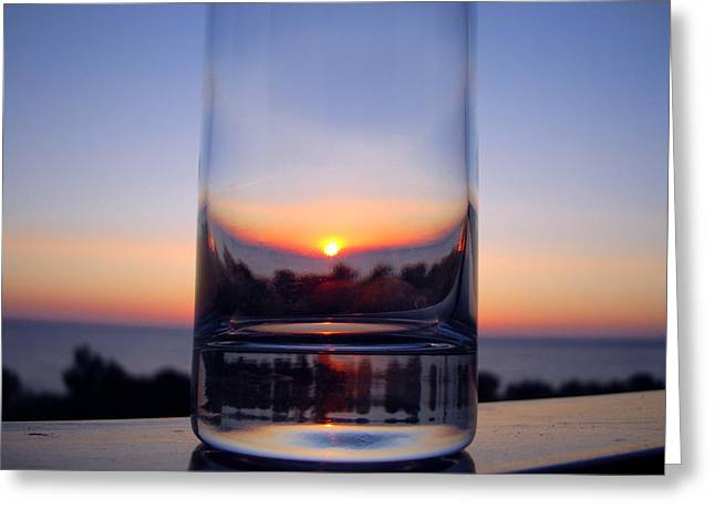 Sun In The Glass Greeting Card by Andreas Thust