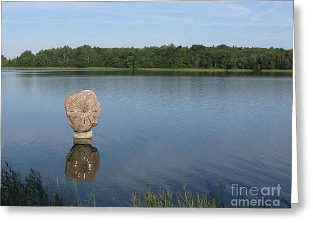 Sun In The Lake. Park Vilnoja. Suderve. Lithuania. Greeting Card