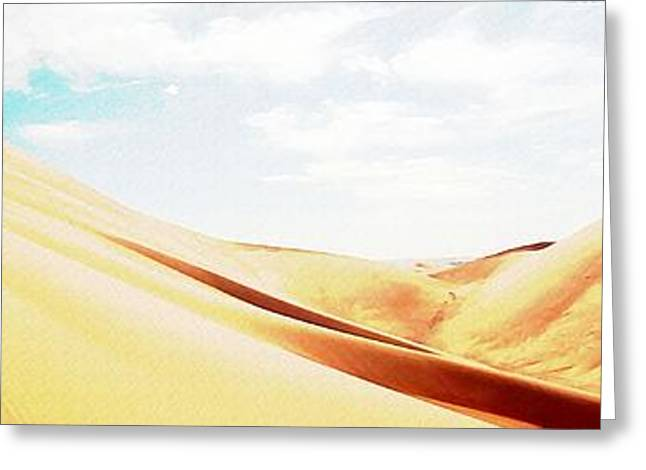 Sun In The Sands Greeting Card by Peter Waters