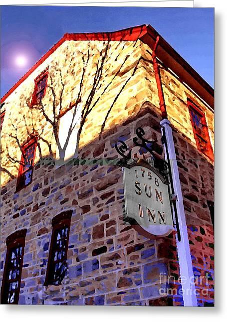 Sun Inn Bethlehem Pa Greeting Card