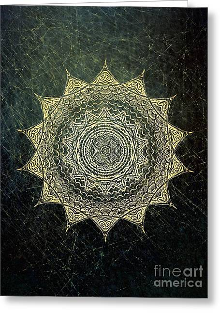 Sun Mandala - Background Variation Greeting Card