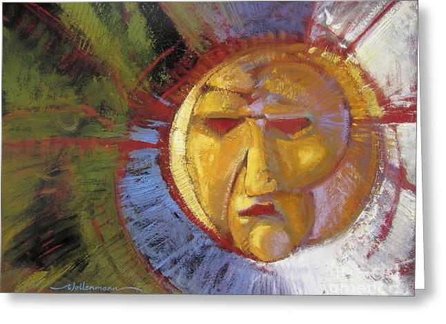 Sun Mask Greeting Card