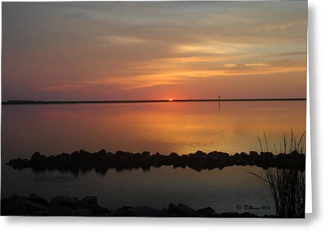 Sun On The Horizon Greeting Card