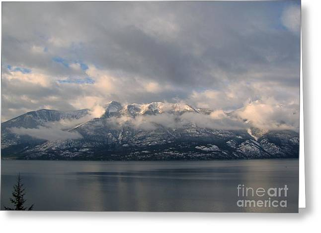 Sun On The Mountains Greeting Card by Leone Lund