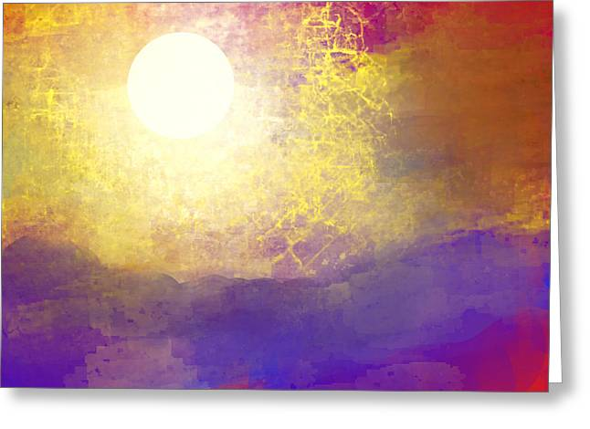 Sun Over The Canyon Greeting Card by Jessica Wright