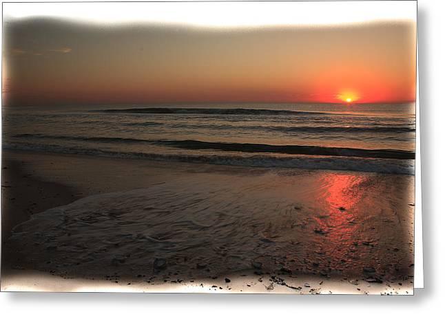 Sun Over The Ocean Greeting Card