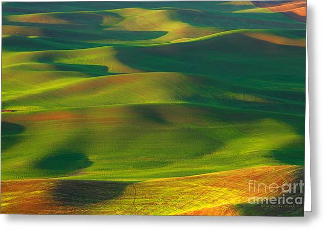 Sun Painted Hills Greeting Card by Beve Brown-Clark Photography