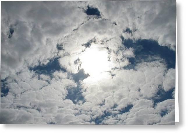 Sun Peek Greeting Card by Deborah Lacoste