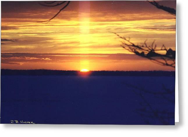 Sun Pillar Greeting Card