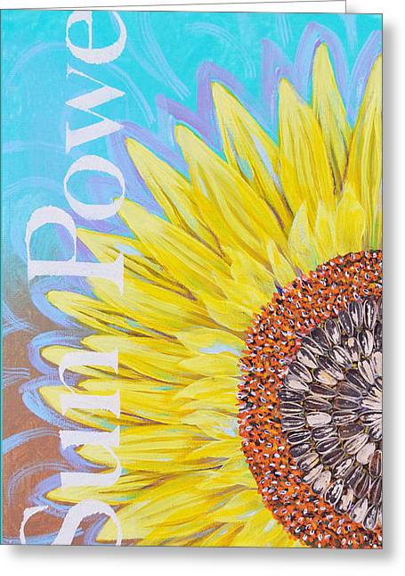 Sun Power Greeting Card by Toni Wolf