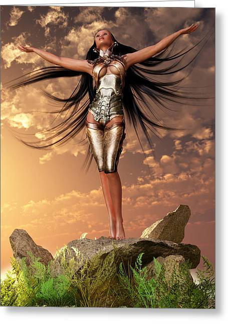 Sun Priestess 2 Greeting Card