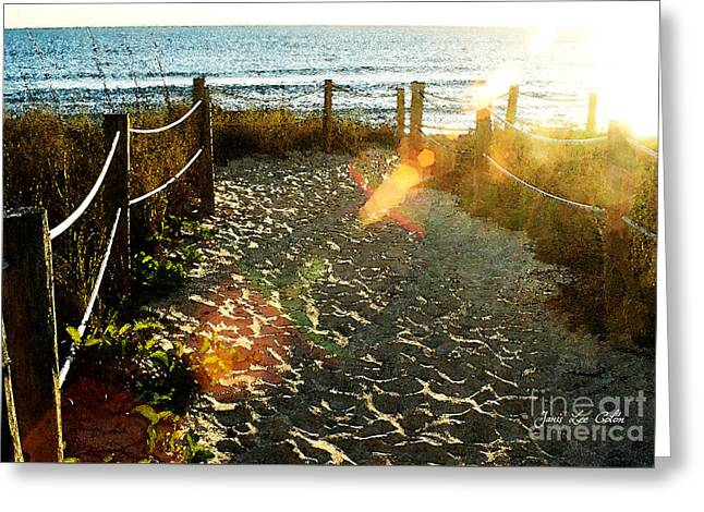 Sun Ray Beach Path Greeting Card