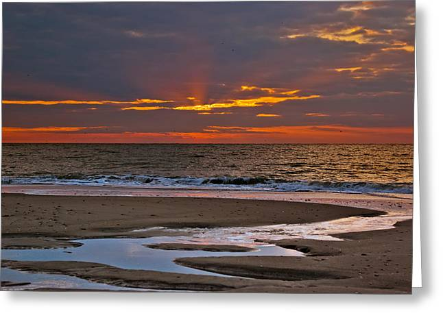 Greeting Card featuring the photograph Sun Ray Sunrise by Francis Trudeau