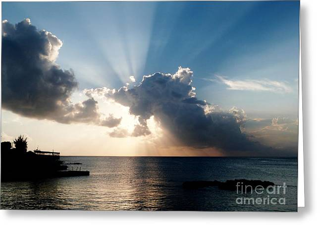 Sun Rays Greeting Card by Amar Sheow