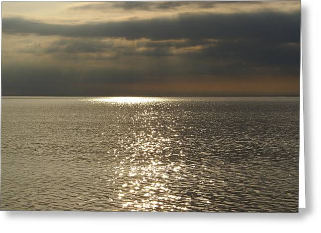Sun Rays And Reflections In The Sea Greeting Card by Gynt
