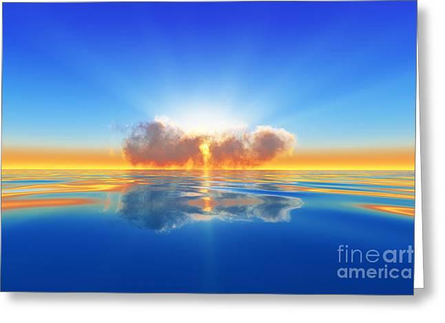 Sun Rays In Cloud Greeting Card
