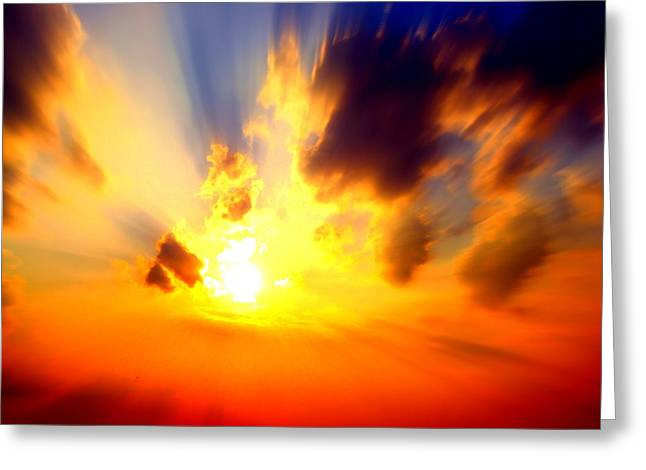 Sun Rays Greeting Card by Jose Lopez