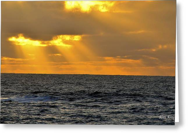 Sun Rays Through The Clouds Greeting Card by Alex King