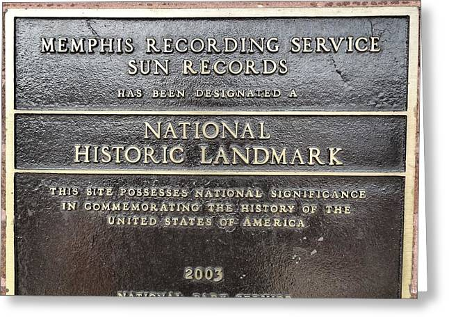 Sun Records Greeting Card by Dan Sproul