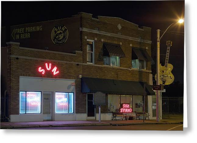 Sun Records Studio In Memphis Greeting Card