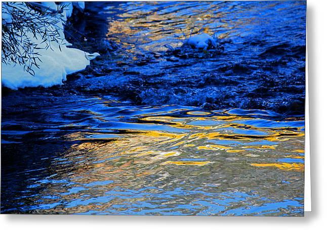 Sun Reflection Greeting Card by Silke Brubaker
