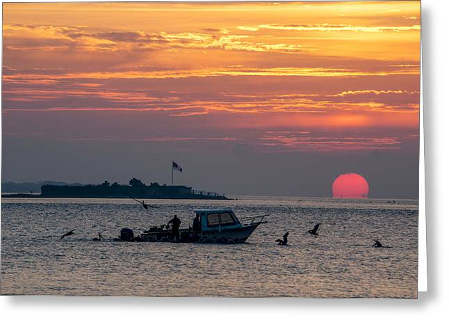 Sun Rise Over Fort Sumter Greeting Card
