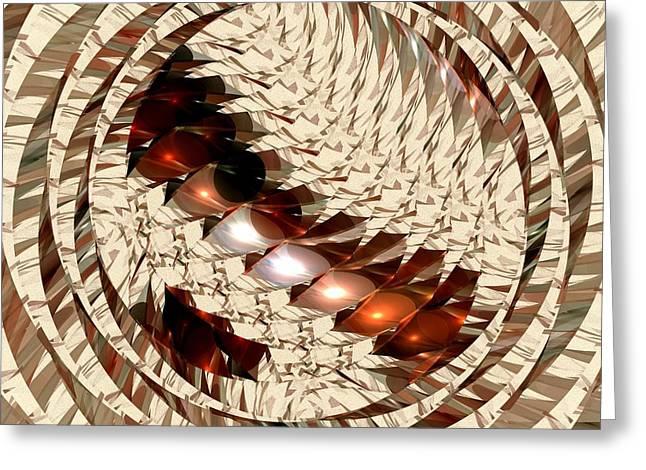 Sun Sand Shadows Greeting Card by Anastasiya Malakhova