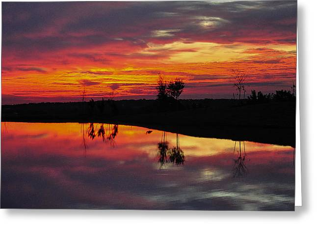 Sun Set At Cowen Creek Greeting Card