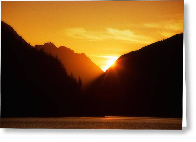 Sun Set Over The Lake Greeting Card