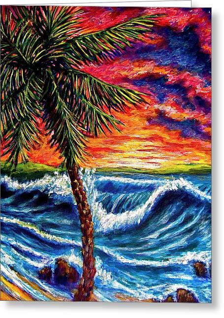 Sun Set Palm Greeting Card