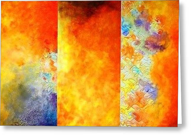 Sun Sets Greeting Card by Kiruba Sekaran