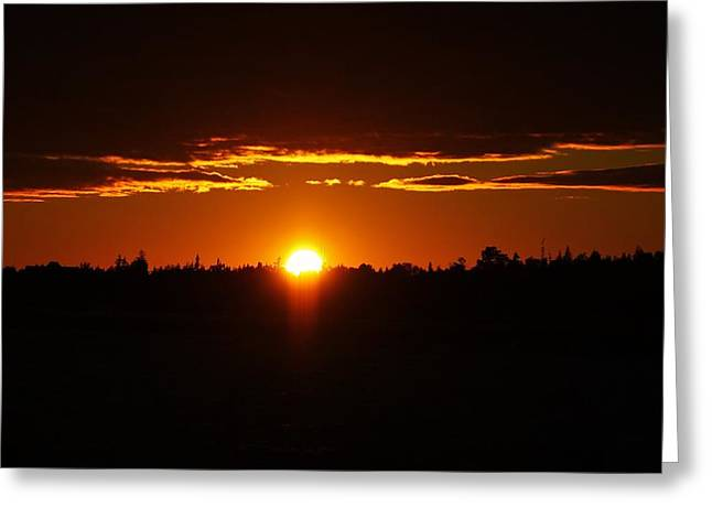 Sun Sets Over Huron Greeting Card