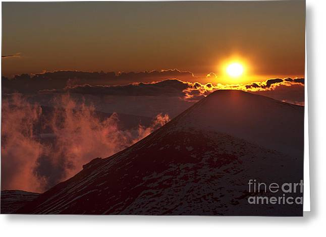 Sun Setting Greeting Card by Karl Voss