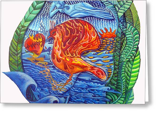 Sun Setting On The Age Of Pisces Greeting Card by Joanna Whitney