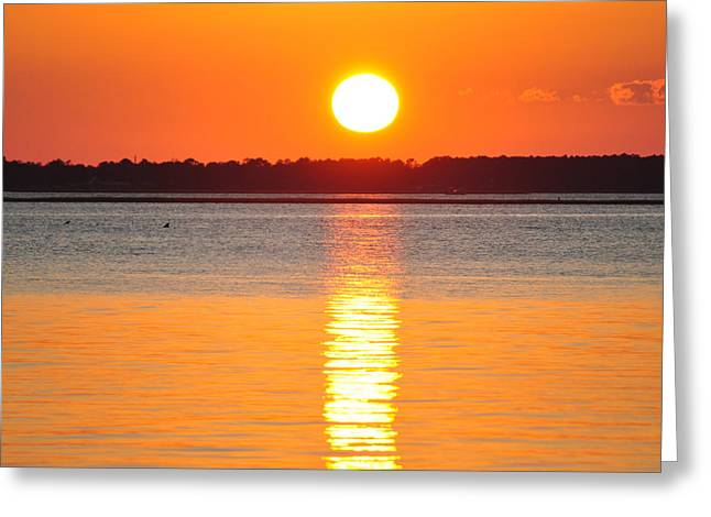 Sun Setting Over Beaufort Greeting Card by James Lewis
