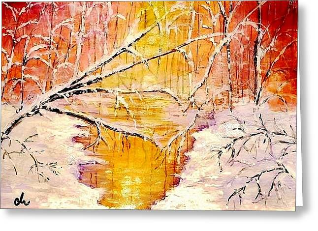 Greeting Card featuring the painting Sun Shy... by Cristina Mihailescu