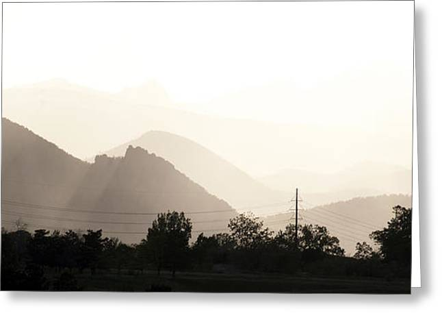 Sun Soaked Flatirons Greeting Card by Marilyn Hunt