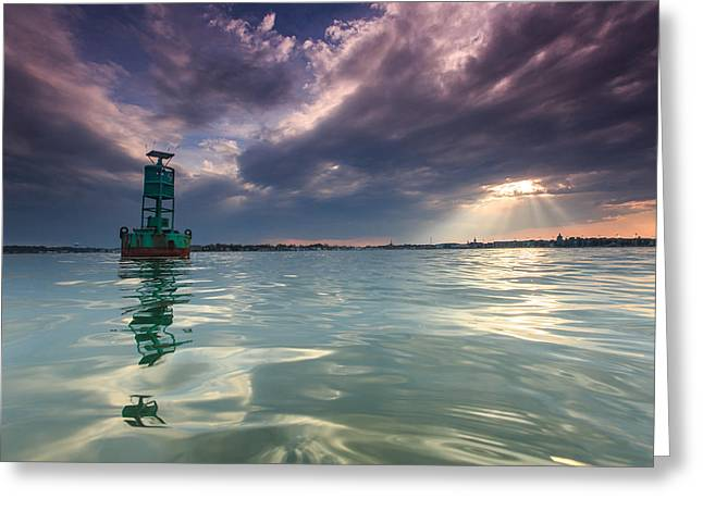 Greeting Card featuring the photograph Sun Spill Over Annapolis by Jennifer Casey
