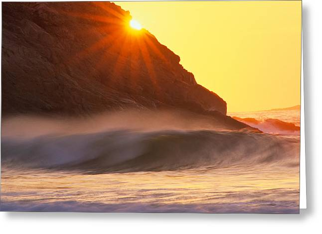 Sun Star Singing Beach Greeting Card