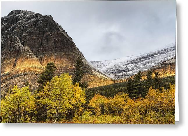 Sun Streak On Altyn Mountain Greeting Card