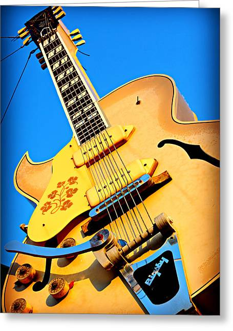 Sun Studio Guitar Greeting Card by Stephen Stookey