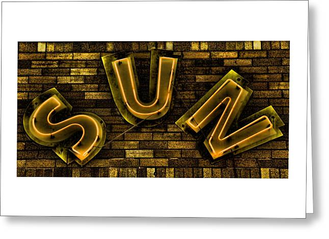 Sun Studio Neon 3 Greeting Card