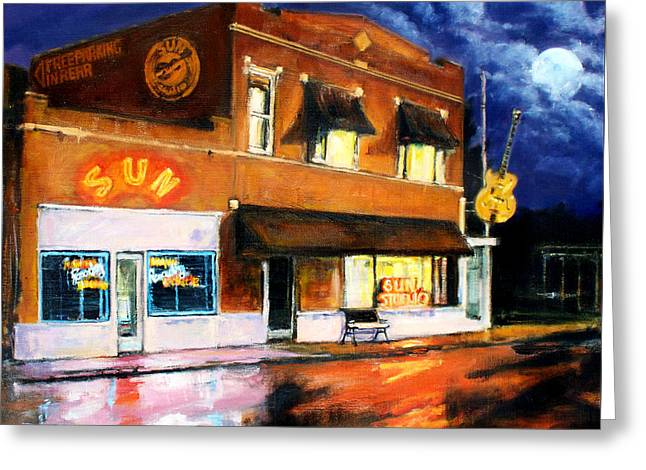 Sun Studio - Night Greeting Card