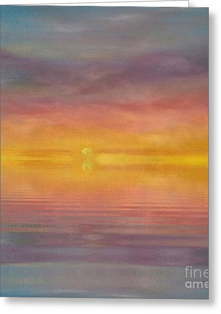 Greeting Card featuring the painting Sun Tapestry by Holly Martinson