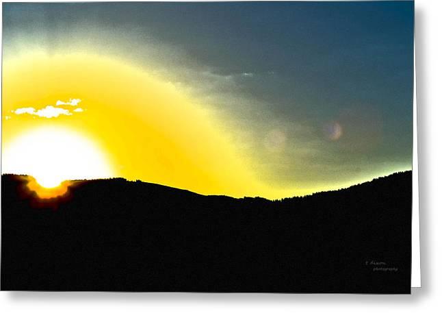 Sun Greeting Card by Teresa Dixon